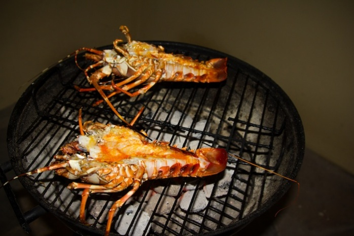 Crays on the Braai